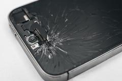 Brutet mobiltelefonskärmslut upp Arkivbilder
