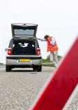 Brutet ner bilen Royaltyfri Foto