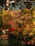 Brutet trädgårds- staket, 3d CG stock illustrationer