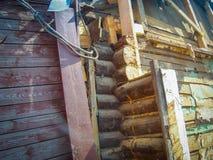 Brutet wood hus Fotografering för Bildbyråer