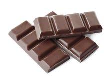 Brutna chokladstycken Royaltyfria Foton