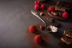 Brutna chokladstycken Fotografering för Bildbyråer