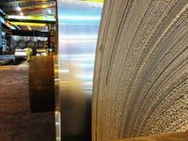 Brutna kanter av den aluminum spolen Royaltyfri Fotografi