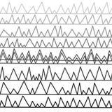 Brutna linjer, från ljus - grå färg som ska svärtas Arkivfoto