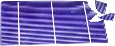 Brutna sol- celler Arkivfoton