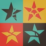 Brutna stjärnor Arkivbilder