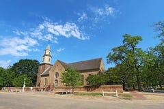 Bruton Parish Church na borda de Williamsburg colonial, Virgi imagem de stock royalty free