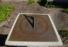 Bruton Parish Church sundial Stock Photos