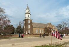 Bruton Parish Episcopal Church of British Colony, Williamsburg, Virginia, USA. Williamsburg, Virginia , USA - April 1, 2018 : Bruton Parish Episcopal Church of stock photos