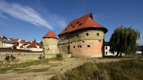 Brutto- bastion, Bardejov, UNESCO, Slovakien royaltyfri foto