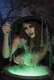 Bruxa bonita Imagens de Stock