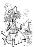 Bruxa bonito ilustração stock