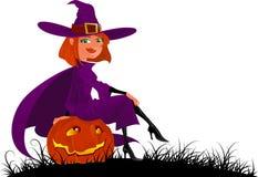 Bruxa bonito de Halloween Fotografia de Stock