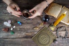 Bruxa - caixeiro de fortuna imagens de stock royalty free