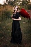 Bruxa com asas e serpente Fotografia de Stock