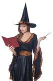 Bruxa com varinha Imagens de Stock