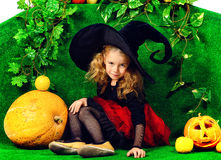 Bruxa da menina Foto de Stock Royalty Free