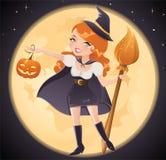 Bruxa de Halloween Foto de Stock