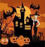 Bruxa de Halloween Imagem de Stock Royalty Free