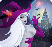 Bruxa de Halloween ilustração royalty free