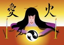Bruxa de Japão ilustração royalty free