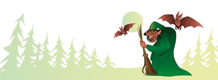 bruxa Dia das Bruxas feliz, Fotos de Stock