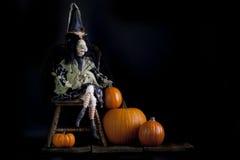 Bruxa do cigano de Dia das Bruxas fotografia de stock