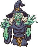 Bruxa dos desenhos animados Foto de Stock Royalty Free