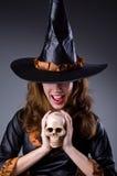 Bruxa em assustador Fotos de Stock Royalty Free