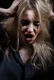 Bruxa ensanguentado que grita Fotos de Stock Royalty Free