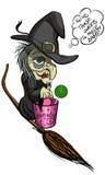 Bruxa feia idosa do Dia das Bruxas Fotos de Stock Royalty Free
