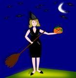 Bruxa Halloween Foto de Stock Royalty Free