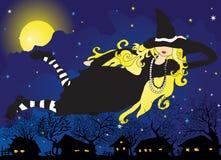 Bruxa loura Ilustração do Vetor