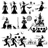 Bruxa má Hunt Witchcraft Black Magic Clipart ilustração stock