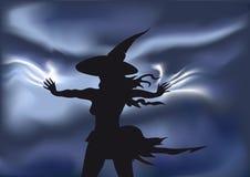 Bruxa mágica ilustração stock