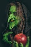 Bruxa má com dentes sujos Imagem de Stock Royalty Free
