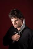 Bruxa masculina com Athame Imagens de Stock Royalty Free