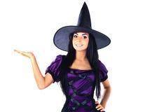 A bruxa mostra a mão acima Fotos de Stock Royalty Free
