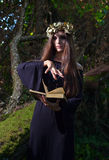 Bruxa na floresta escura Foto de Stock Royalty Free