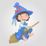 Bruxa o Dia das Bruxas da menina Fotografia de Stock Royalty Free