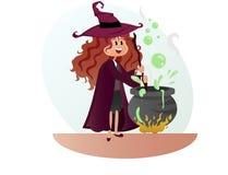 Bruxa para o partido do Dia das Bruxas fotos de stock