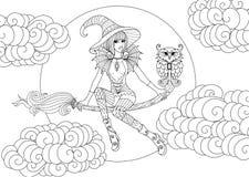 Bruxa pequena ilustração royalty free
