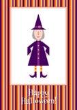 Bruxa pequena engraçada Fotos de Stock Royalty Free