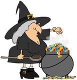 Bruxa que verific seu relógio Imagem de Stock