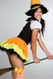 Bruxa 'sexy' de Halloween Fotografia de Stock Royalty Free