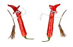 Bruxas da pimenta de Halloween Imagem de Stock Royalty Free
