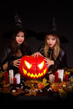 Bruxas de Halloween Fotografia de Stock Royalty Free