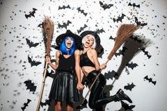 Bruxas emocionais das jovens mulheres Imagens de Stock Royalty Free
