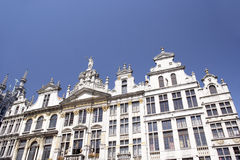 Bruxelas, Bélgica, arquitetura tradicional Fotos de Stock Royalty Free