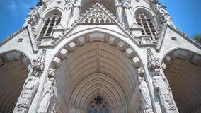 Bruxelas, Bélgica cerca do julho de 2018: Notre-Dame de Laken, vídeos de arquivo